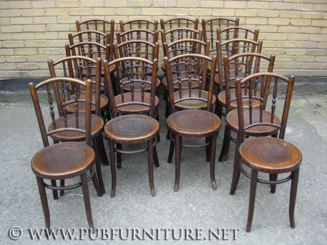An Image Of Pin Or Spindle Type Thonet Bentwood Chairs ...