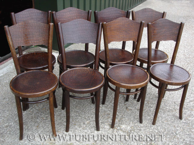 an image 8 thonet bentwood chairs